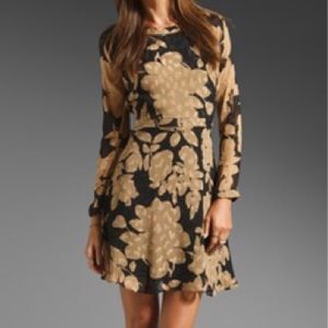 Shoshanna Silk Burano Floral Carla Dress